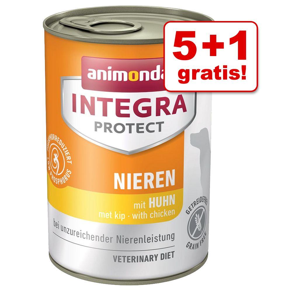 5 + 1 gratis! 6 x 400 g Animonda Integra Nassfu...