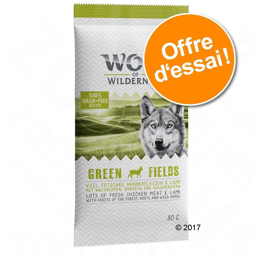 Offre d´essai Wolf of Wilderness Green Fields, agneau 5 x 80 g à prix exceptionnel ! - 400 g (5 x 80
