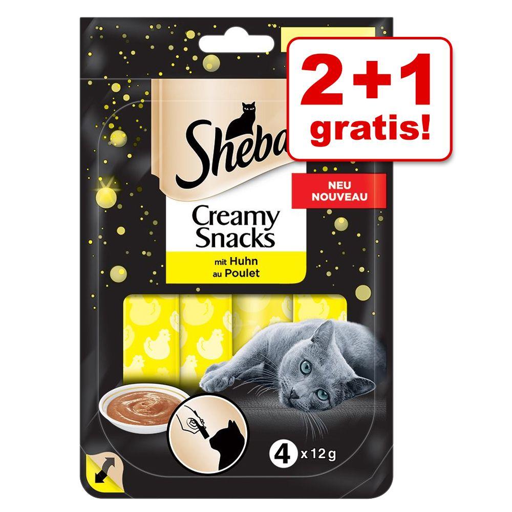 2 + 1 på köpet! Sheba Creamy Snacks - Kyckling