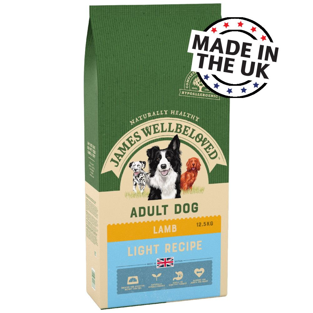 12.5kg Light Lamb & Rice James Wellbeloved Dry Dog Food