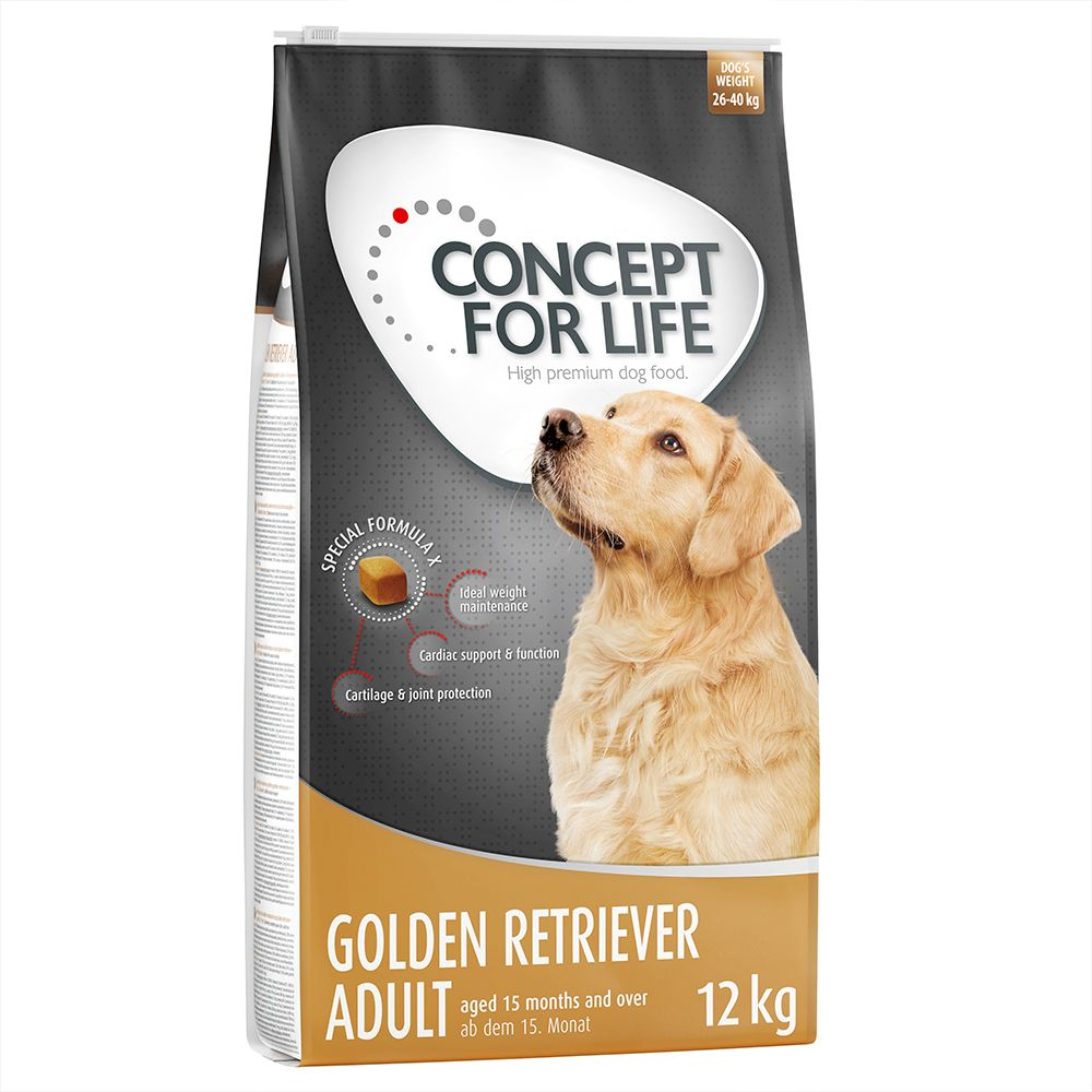 Golden Retriever Concept for Life Dry Dog Food
