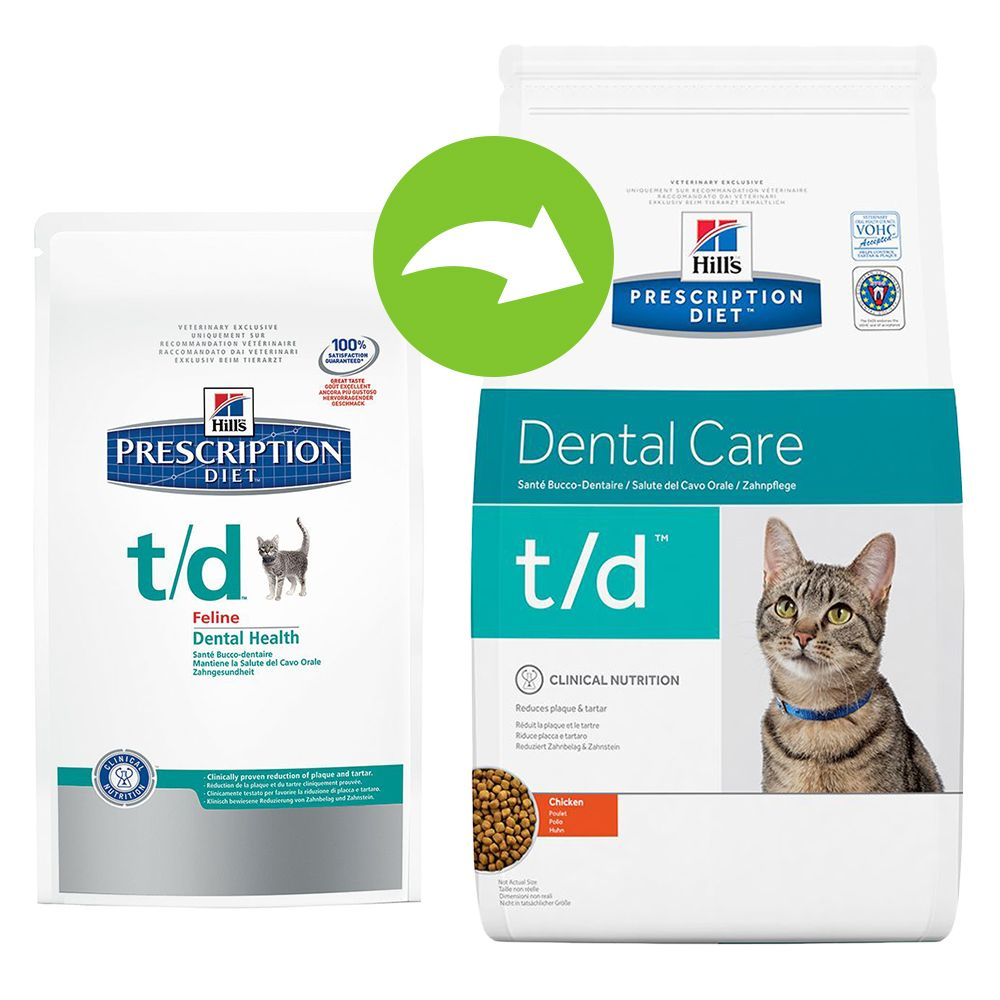 Hill's Prescription Diet Feline t/d - Dental Care - Economy Pack: 2 x 5kg
