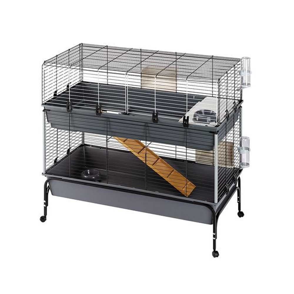 Ferplast Vital Small Pet Cage 120 - Black: 120 x 60 x 116 cm (L x W x H)