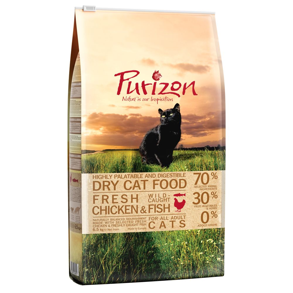 6.5kg Purizon Adult Chicken & Fish Dry Cat Food