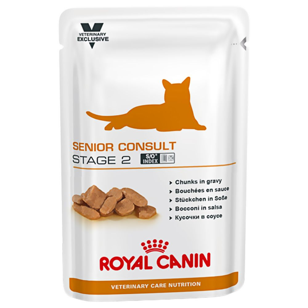 Senior Consult Stage 2 Pouches Feline Royal Canin Veterinary Diet Wet Cat Food