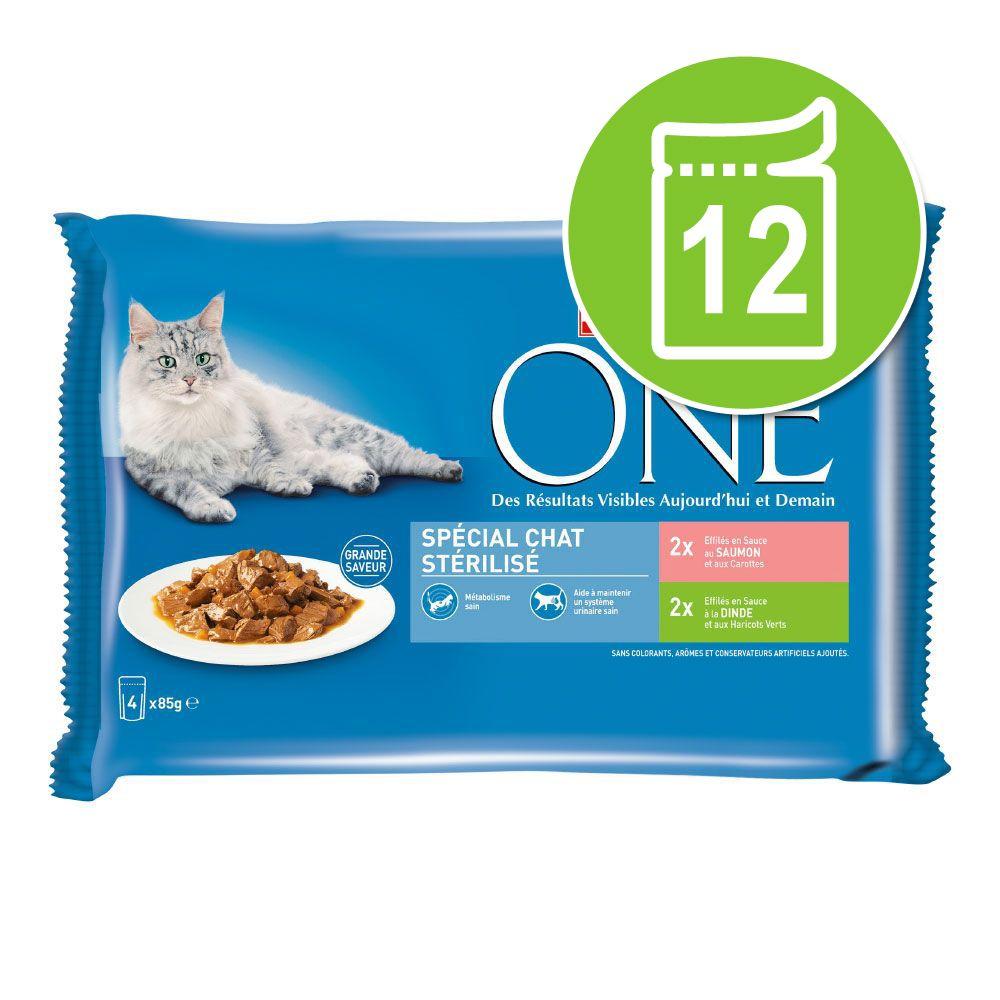 12x85g Chat stérilisé poulet bœuf PURINA ONE - Nourriture pour chat