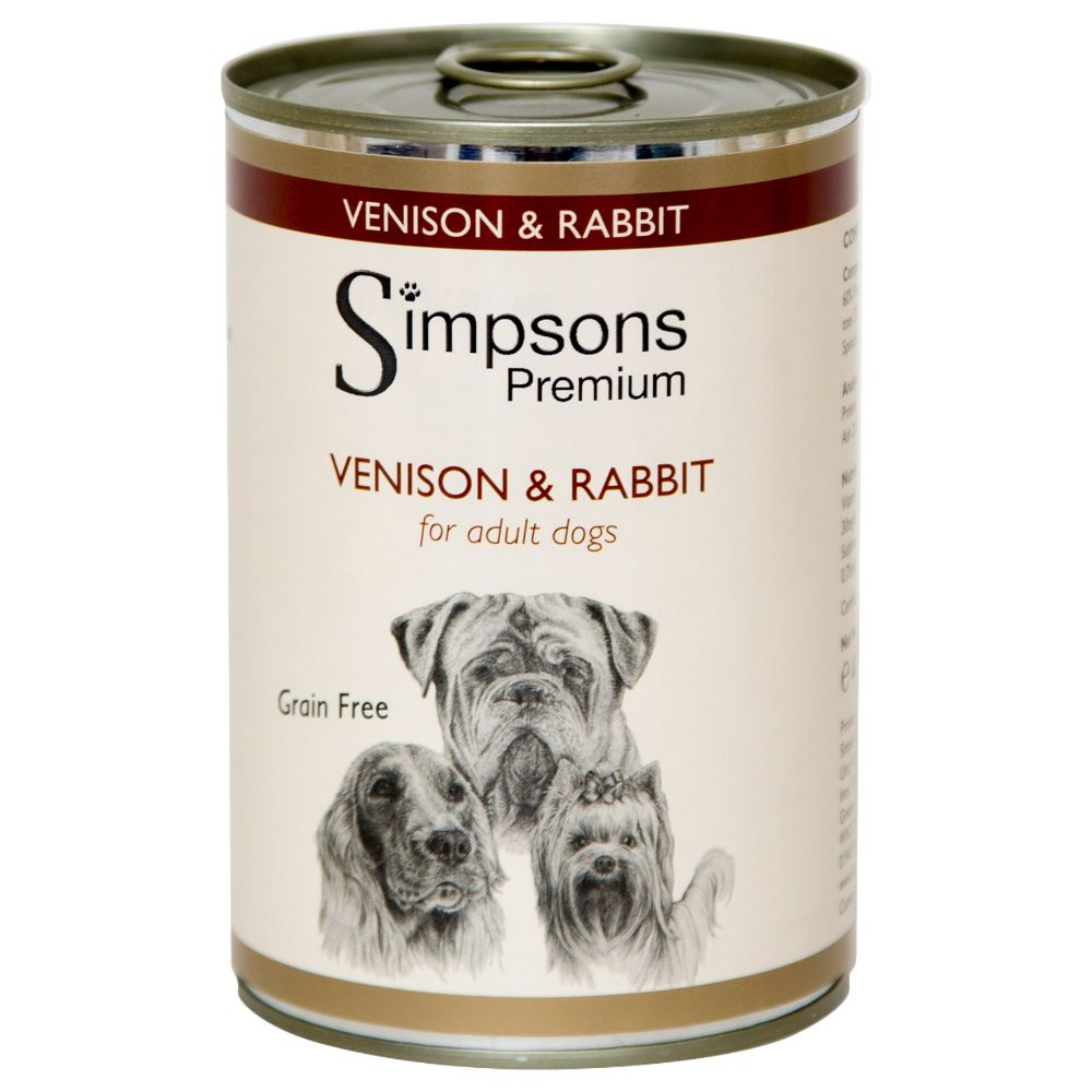 Simpsons Premium Adult Dog - Venison & Rabbit Casserole - Saver Pack: 12 x 400g