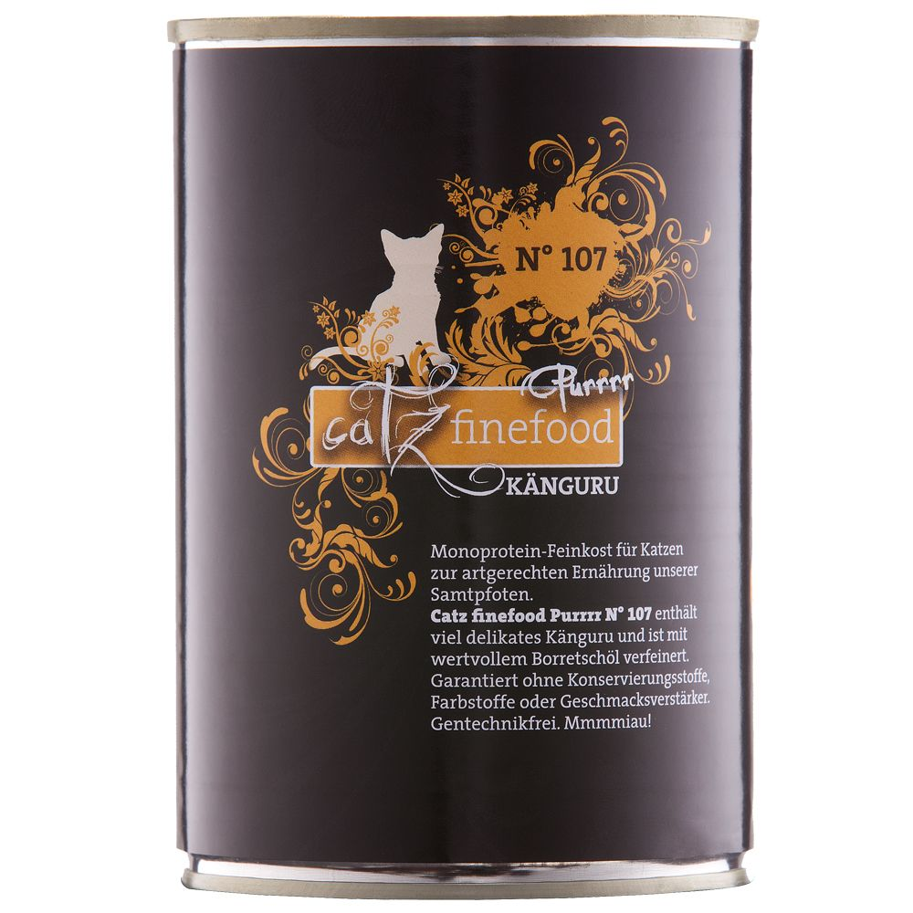 catz finefood Purrrr på burk 6 x 400/375 g - No. 107 känguru (6 x 400 g)