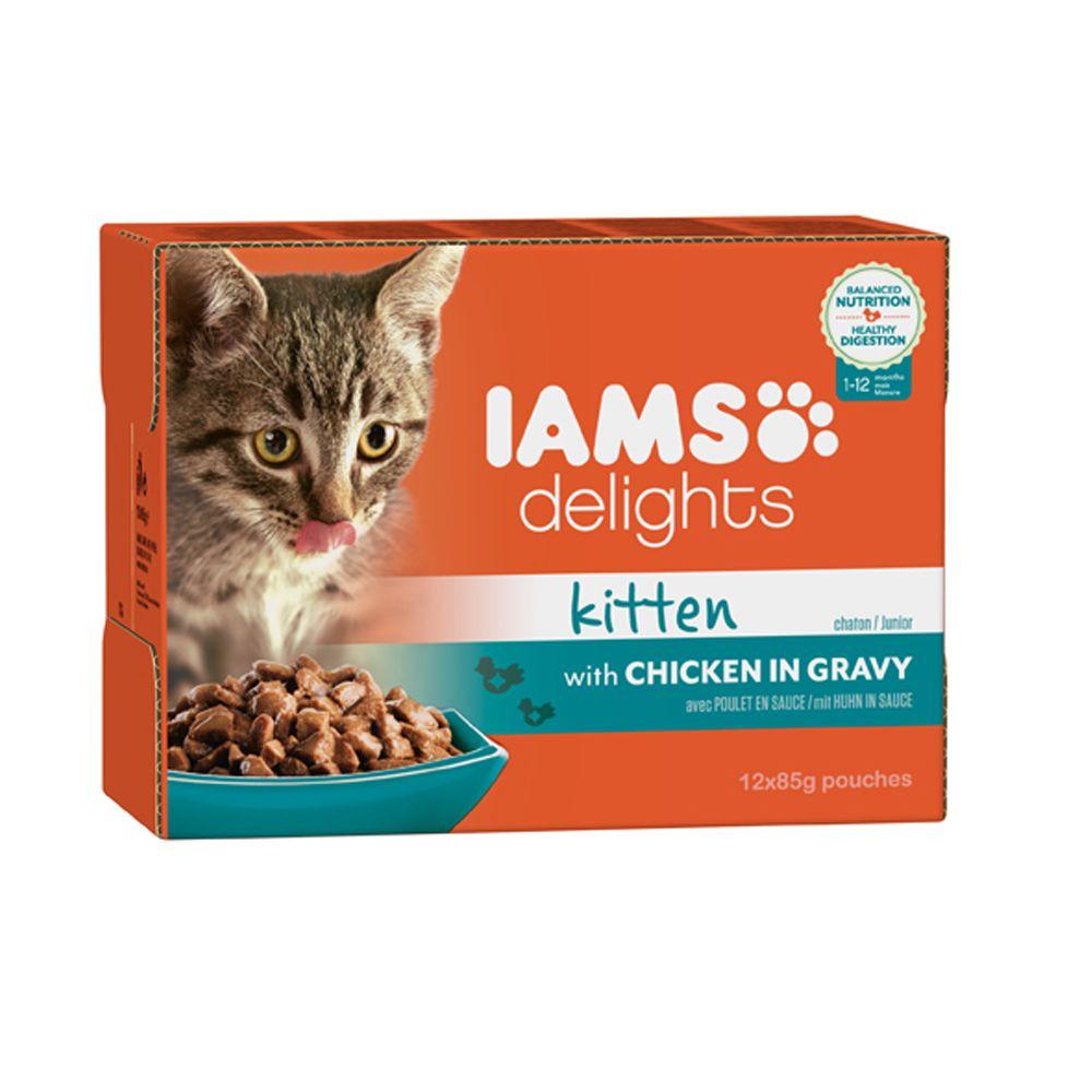 IAMS Delights Kitten – Chicken in Gravy - Saver Pack: Chicken in Gravy (24 x 85g)