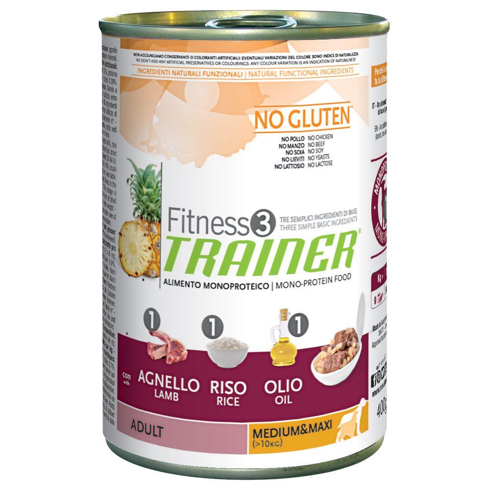 Image of Trainer Fitness 3 Adult Medium/Maxi No Gluten Agnello & Riso - 1 x 400 g