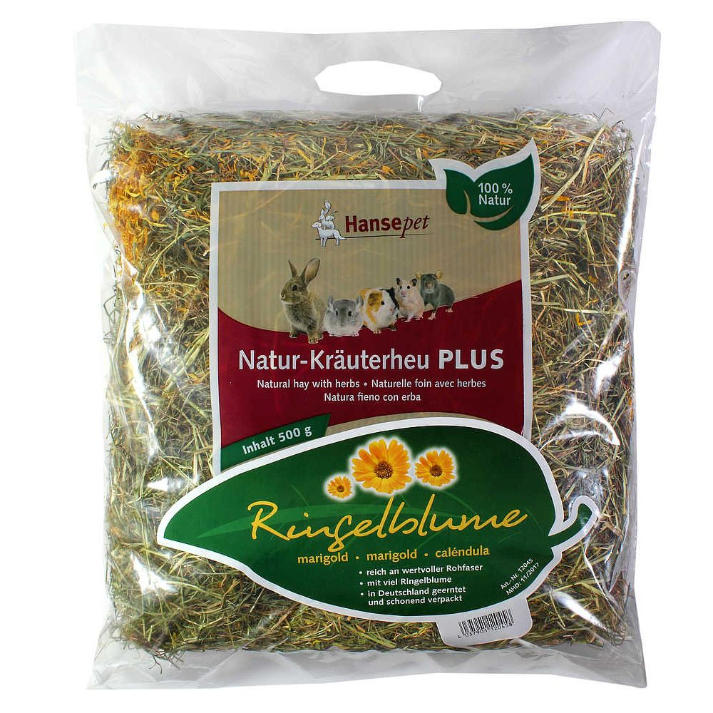 Natural Hay with Marigolds - Saver Pack: 2 x 500g