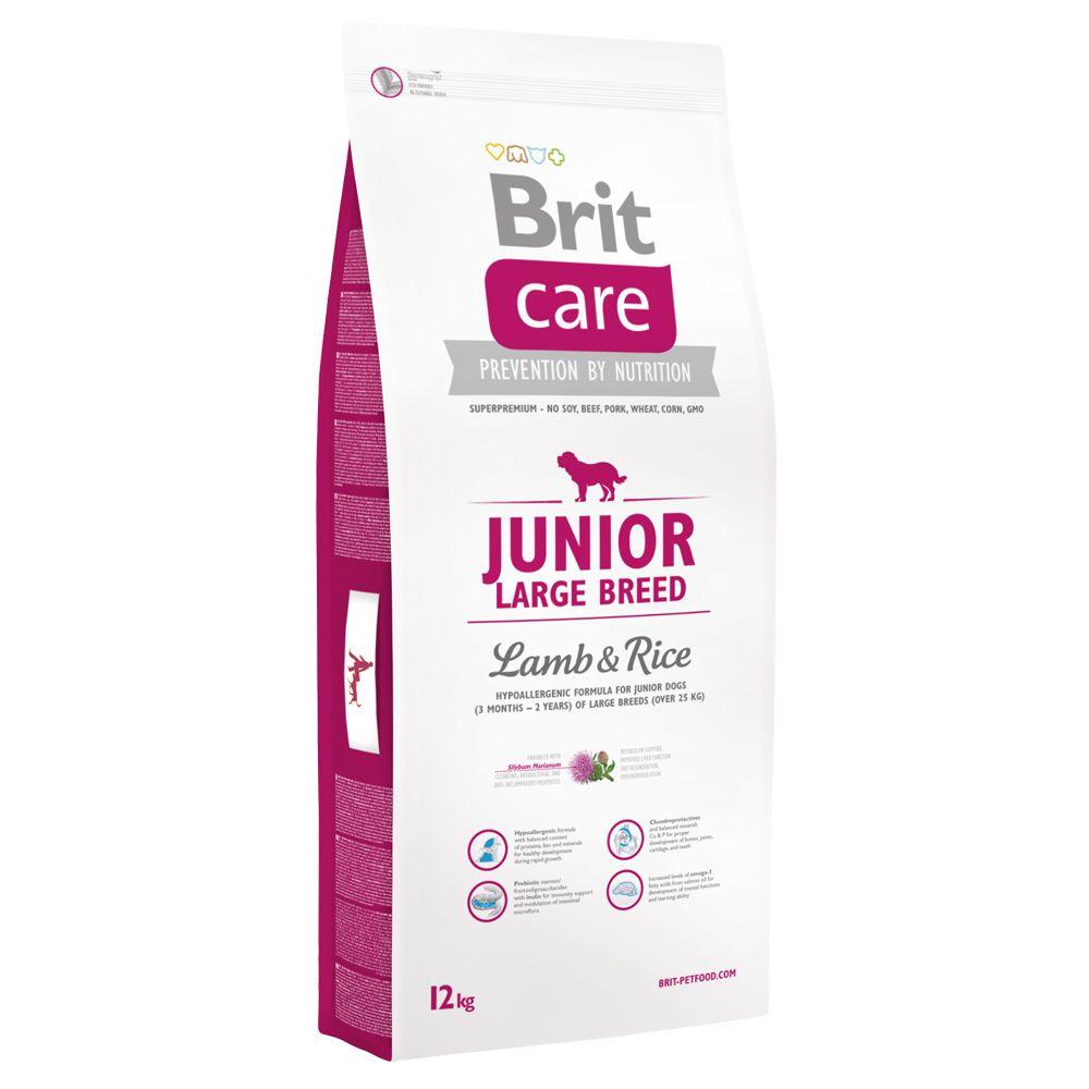 12kg Junior Large Breed agneau riz Brit Care - Croquettes pour Chien