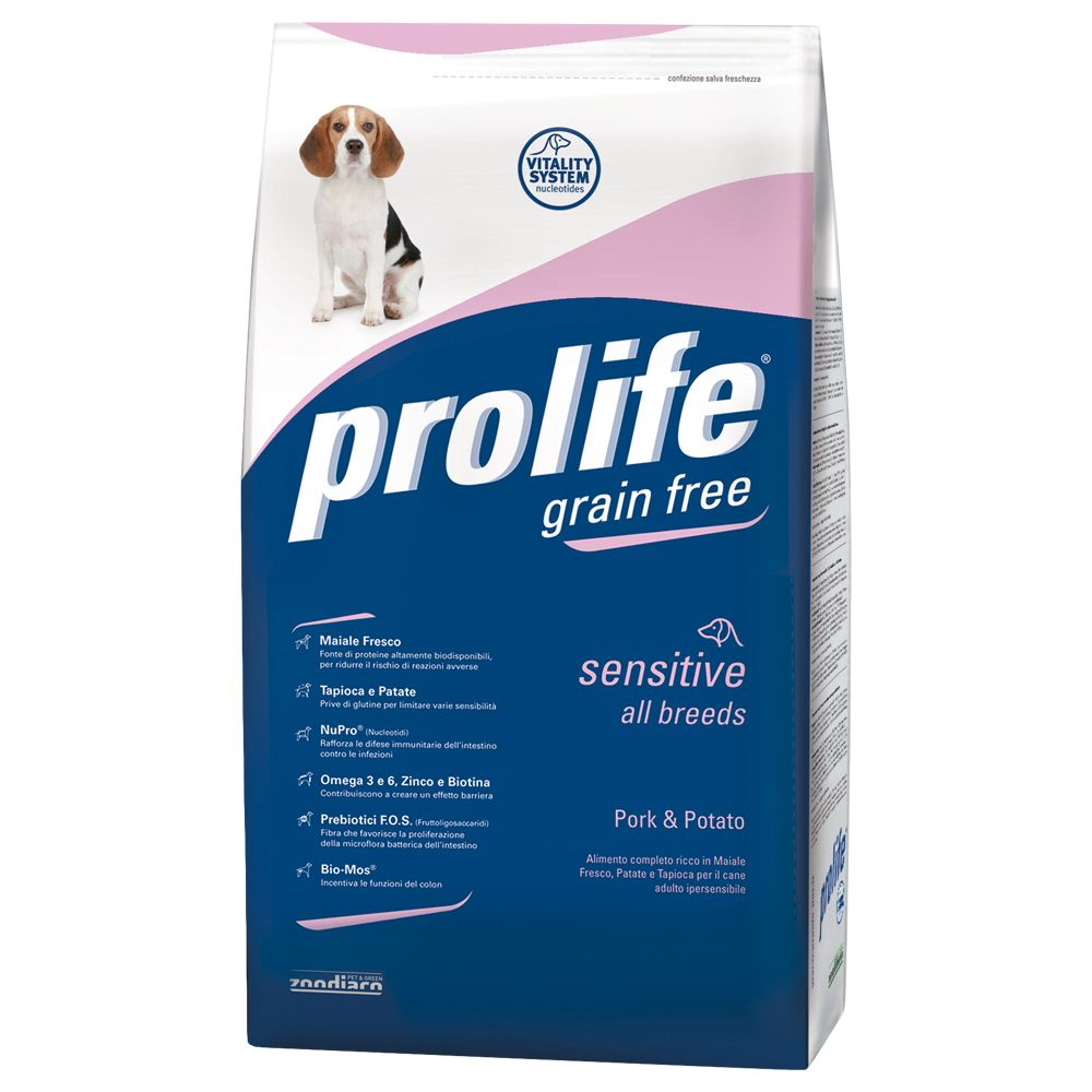 Foto Prolife Grain Free Sensitive Maiale & Patate - 12 kg Prolife Grain Free & Sensitive