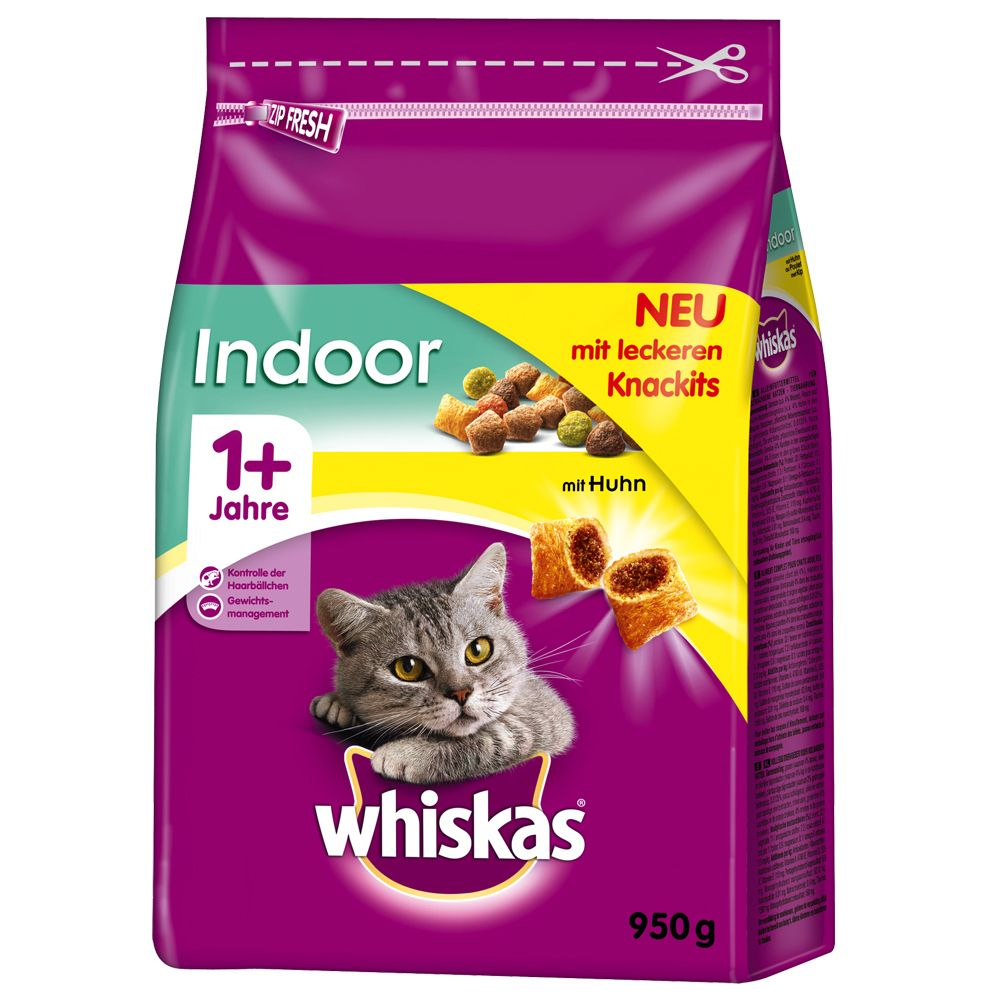Whiskas 1+ Indoor Chicken - 950g