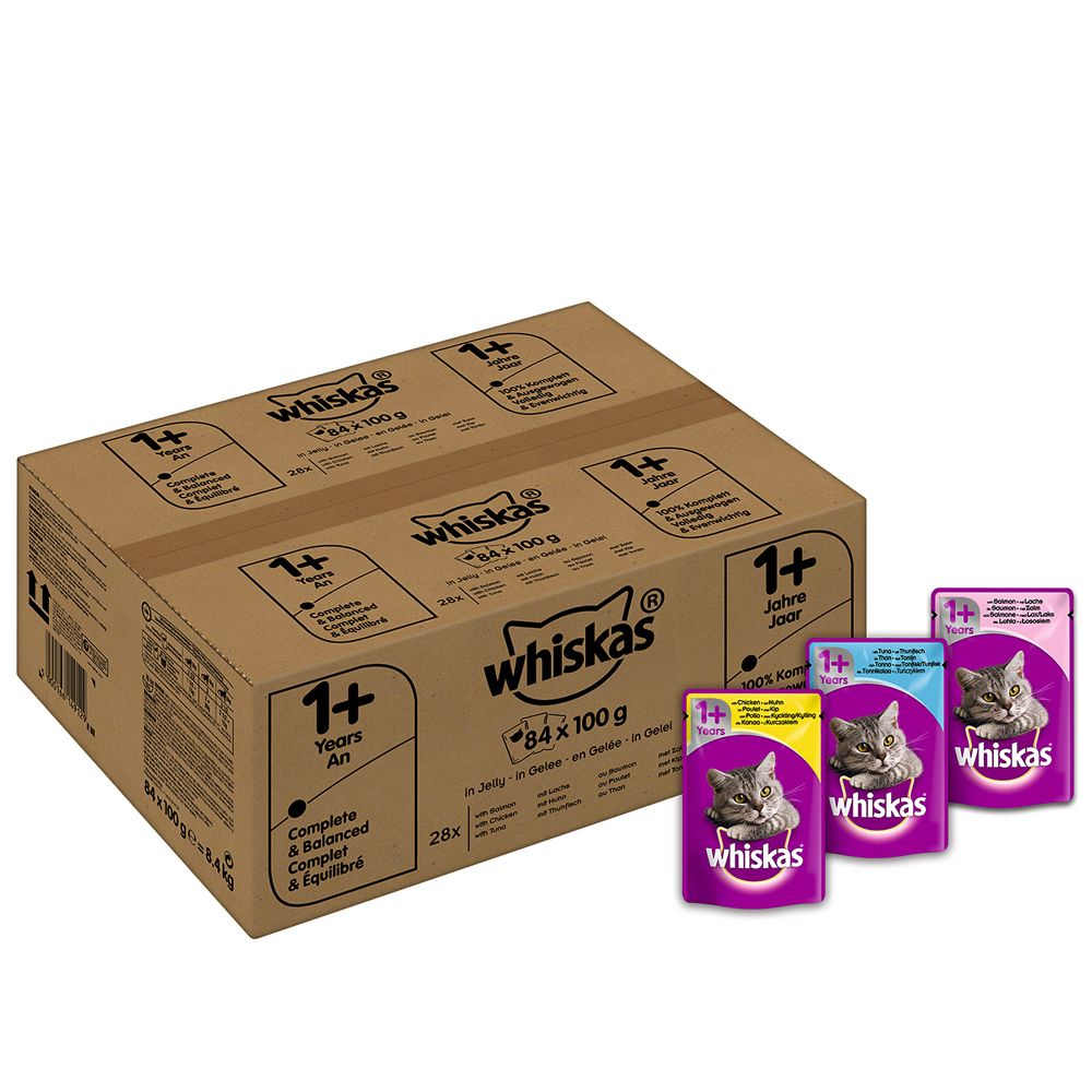 Whiskas 1+ Mixed Selection 84 x 100g - Mixed Selection in Gravy
