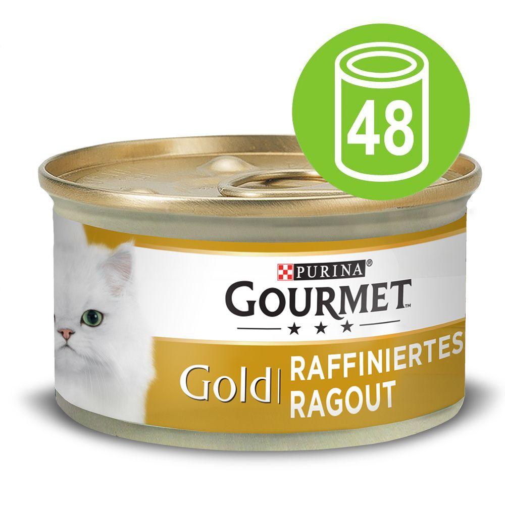 Ekonomipack: Gourmet Gold Ragout 48 x 85 g Lax & pollock