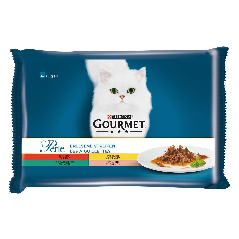 Pakiet próbny Gourmet Perle, 4 x 85 g - Wołowina, królik, łosoś i kurczak