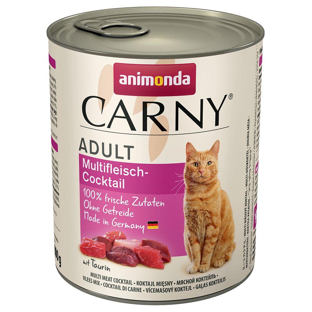 Blandpack: Animonda Carny Adult 6 x 800 g - Nötköttsvariationer