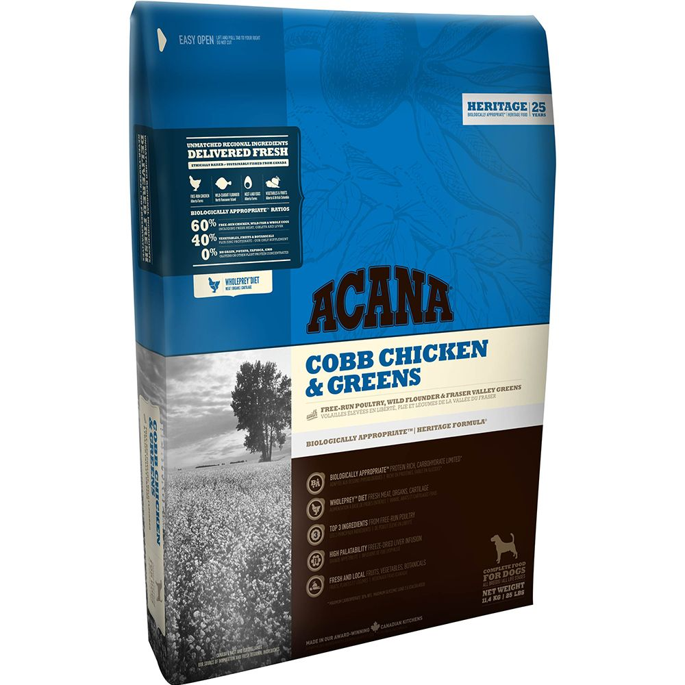 Acana Cobb Chicken & Greens Dry Dog Food - 2kg