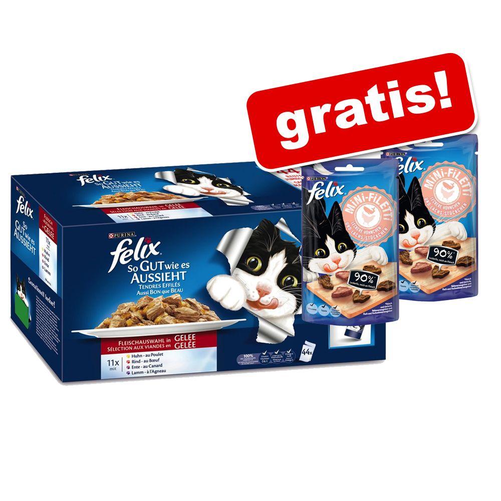 Felix 44 x 100 g Pouches + 2 x 40 g Mini Filett...