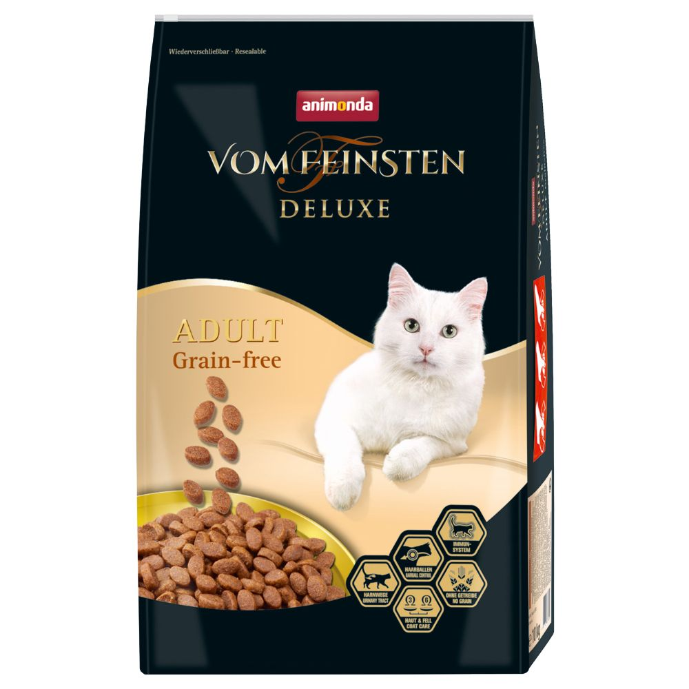 2x10kg Deluxe Adult Grain-free Animonda vom Feinsten dry cat food