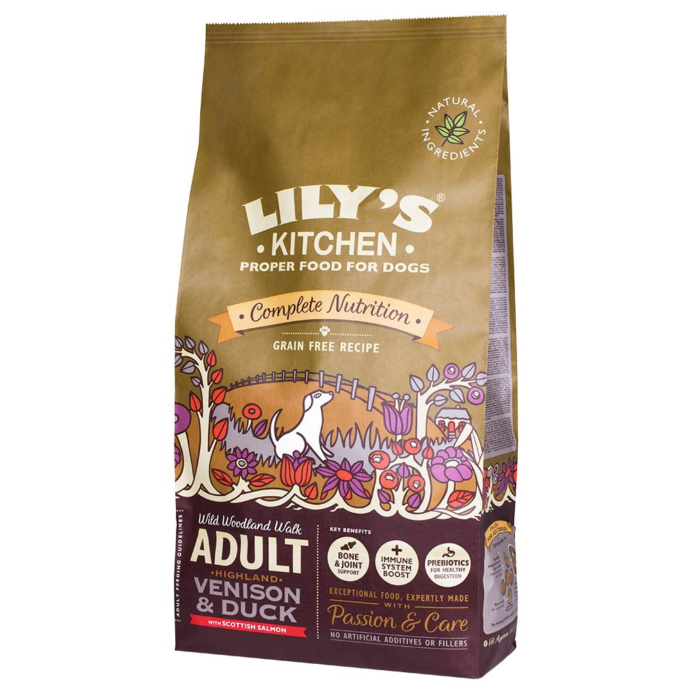 Lily's Kitchen Adult Highland Venison & Duck Grain Free Dry Food for Dogs - 7kg