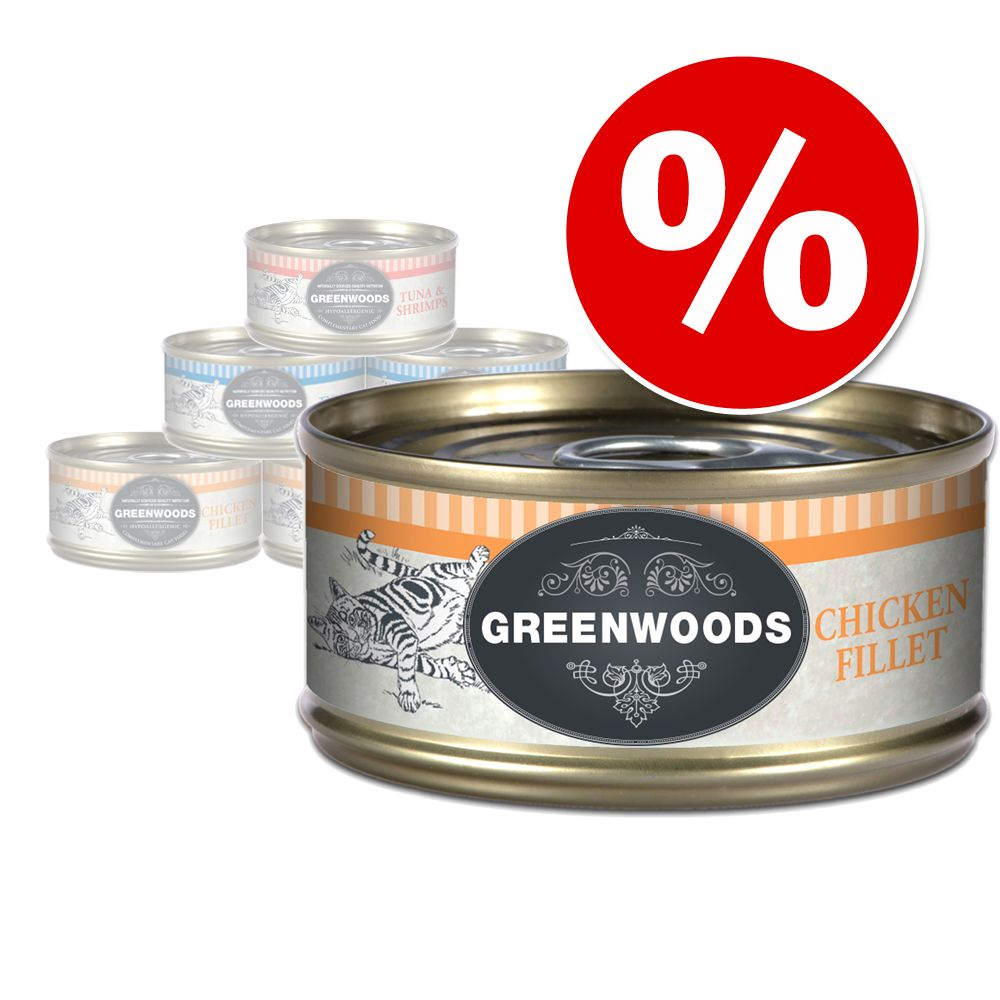 Sonderpreis: 6 x 70 g Greenwoods Adult - Thunfisch