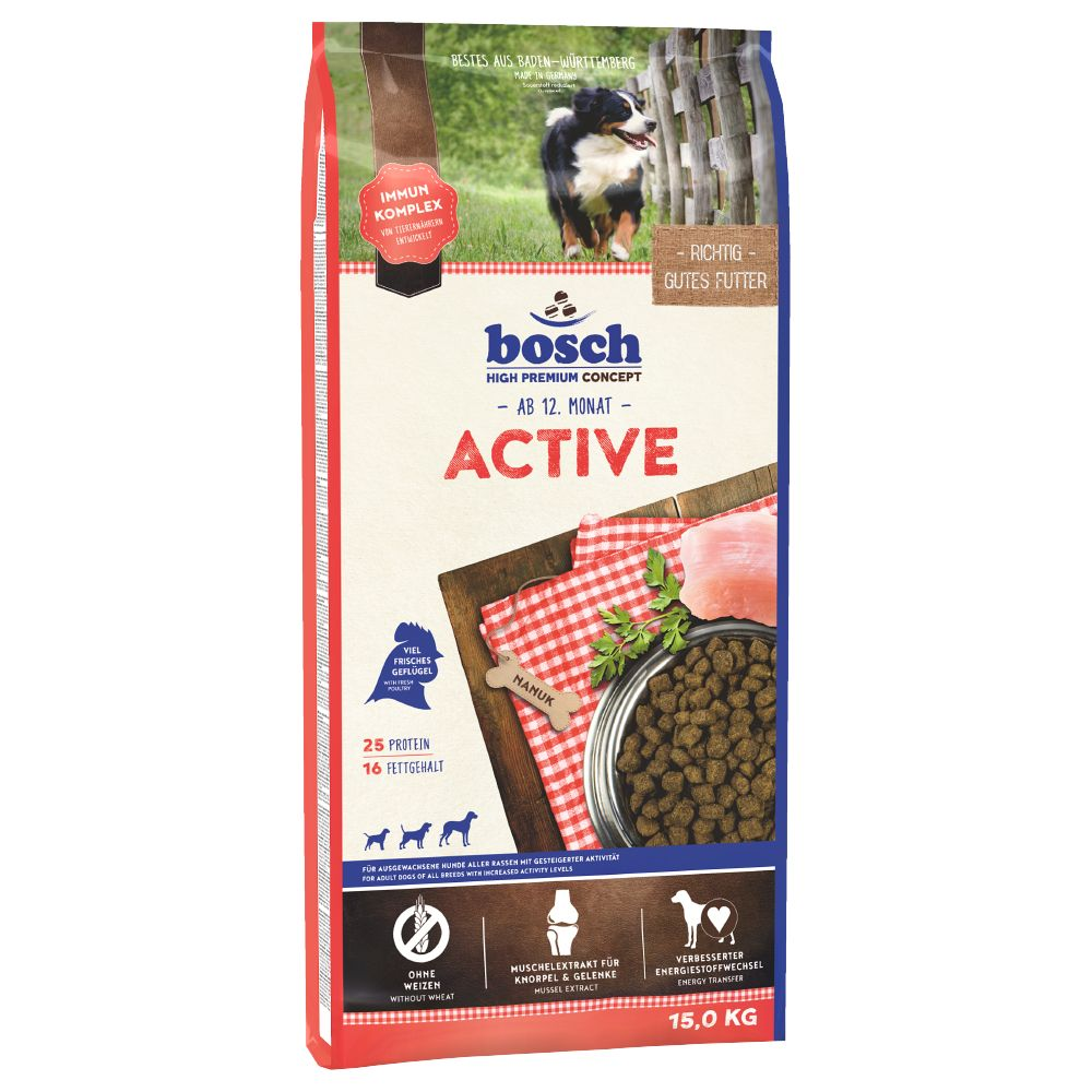 bosch Active Dry Dog Food - 15kg