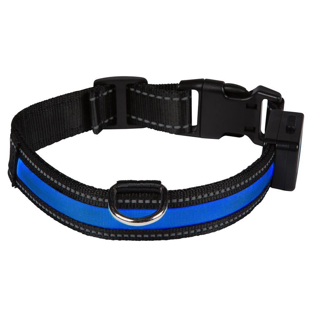 Eyenimal LED-Leuchthalsband - blau - Gr. M: 45 - 55 cm Halsumfang