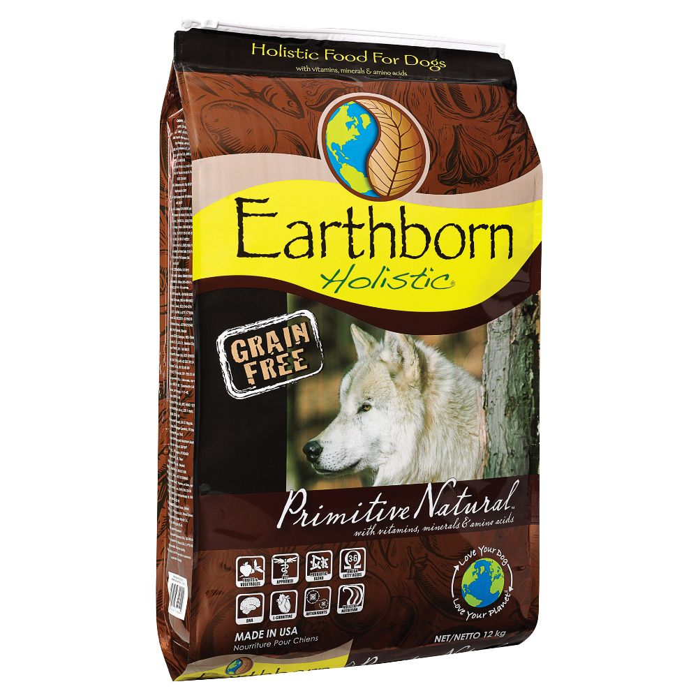 Earthborn Holistic Dry Dog Food Economy Pack - Primitive Natural (2 x 12kg)