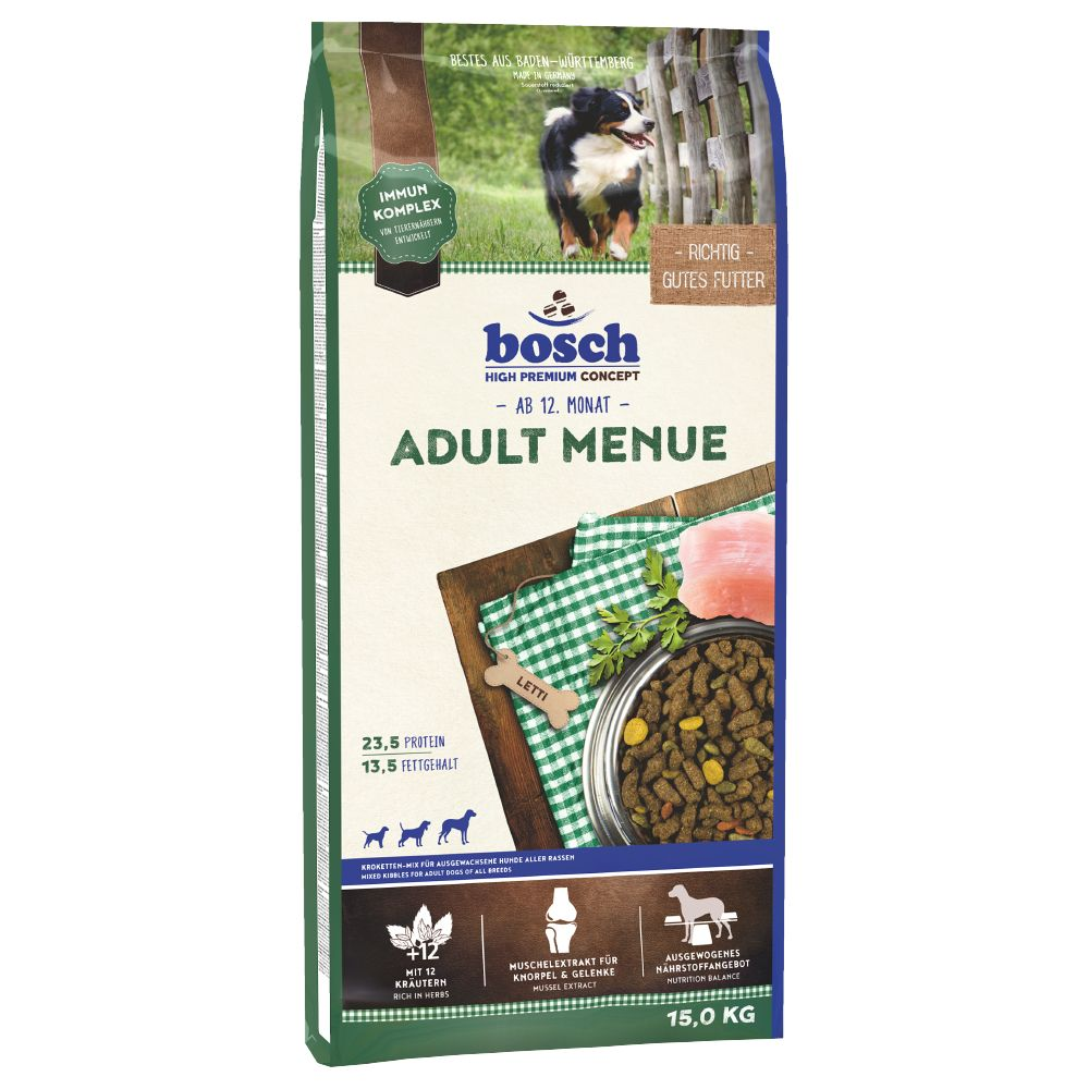 bosch Adult Menu Dry Dog Food - 15kg