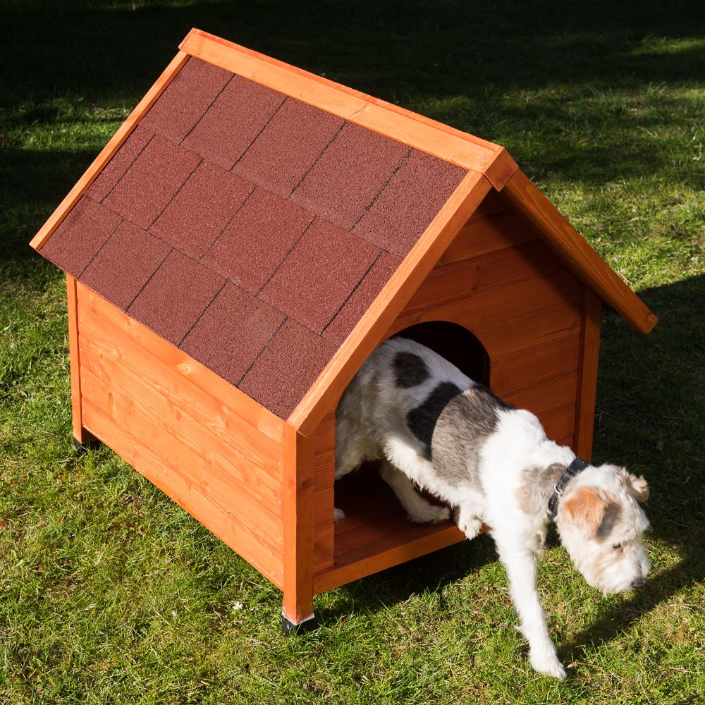 Hundehütte Spike Classic - Größe S: B 54 x T 77 x H 67 cm