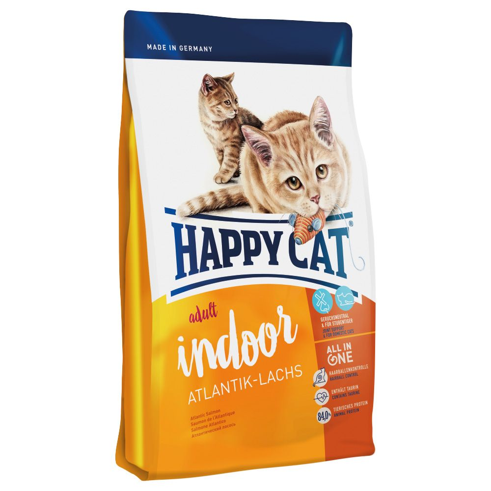 Happy Cat Indoor Adult Atlantic Salmon Dry Food - 4kg