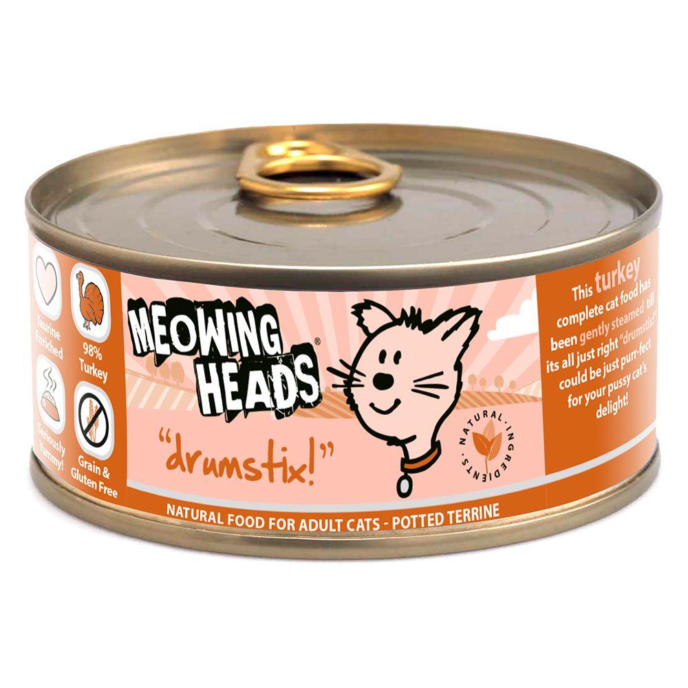 Meowing Heads Drumstix Adult Chicken & Turkey
