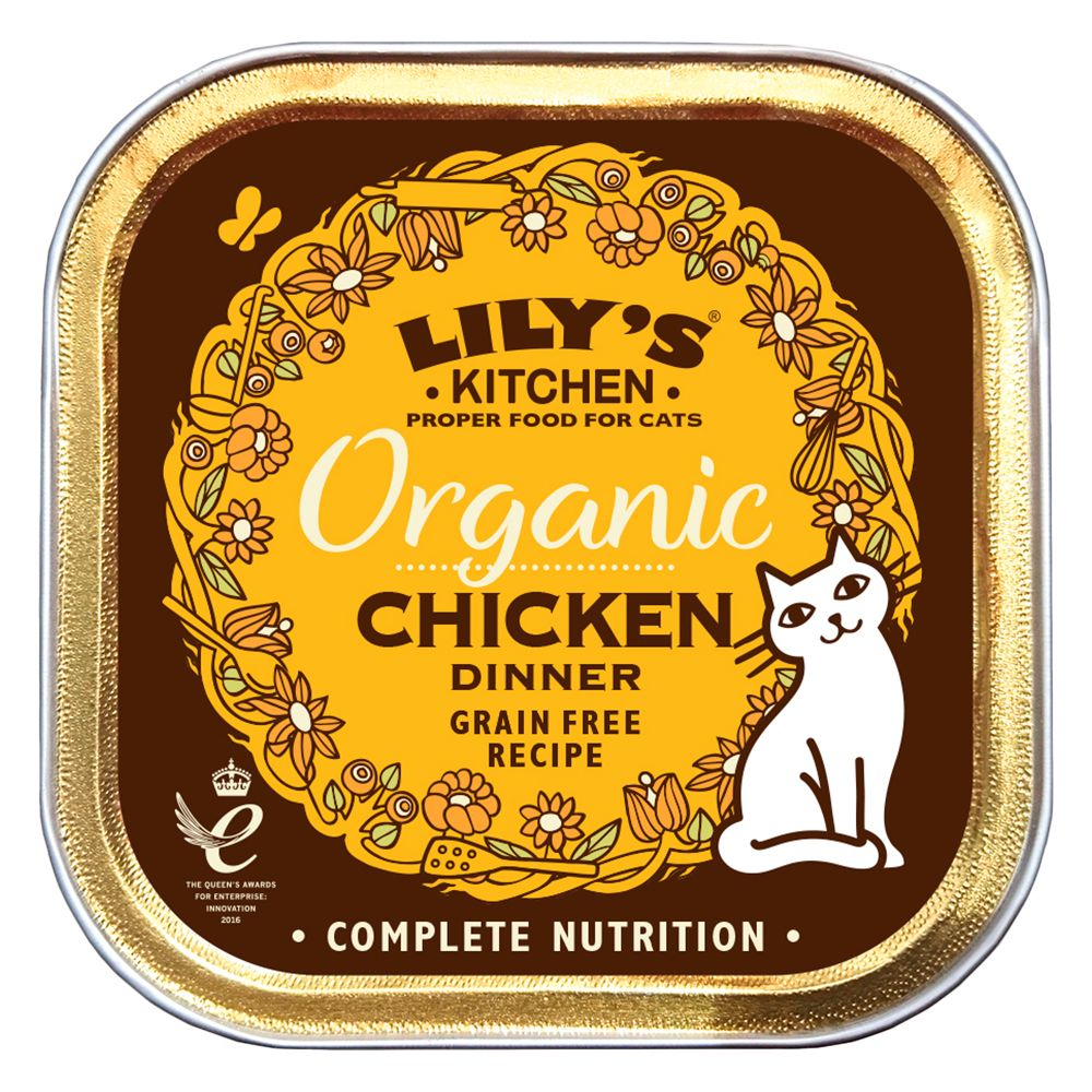 Lily's Kitchen Organic Chicken Dinner for Cats - Saver Pack: 38 x 85g