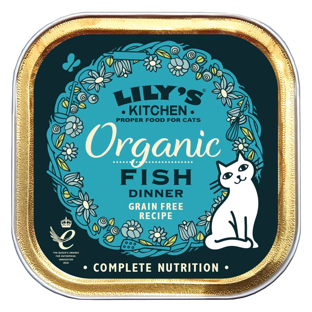 Lily's Kitchen Organic Dinner Adult Cat, 19 x 85 g - Ryby