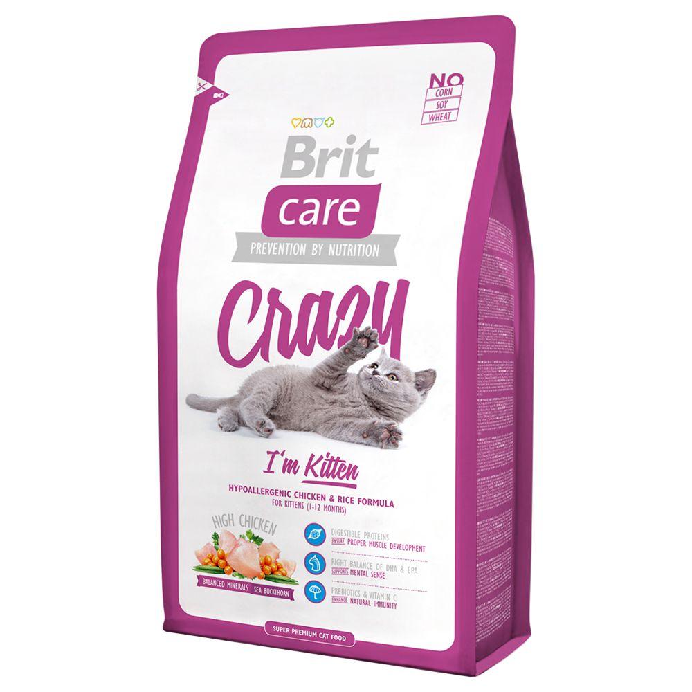 7kg Crazy I'm Kitten Brit Care - Croquettes pour Chat