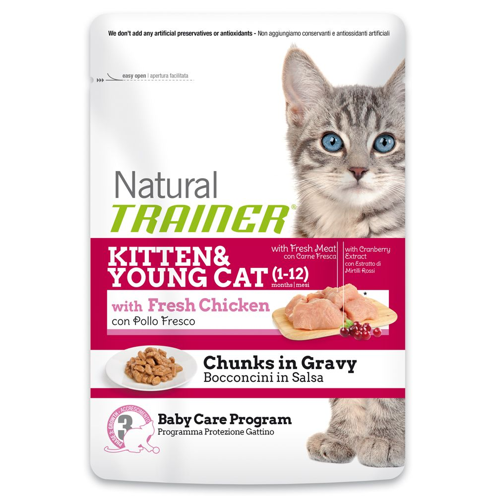 Image of Trainer Natural Kitten & Young con Pollo Fresco - 12 x 85 g