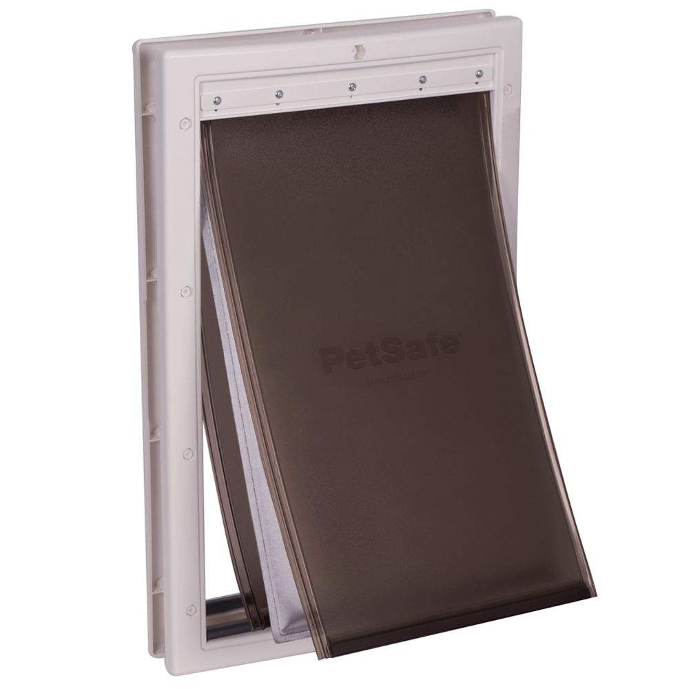 This Petsafe Extreme Weather Pet Door is particularly reliable against both hot and cold weather, thanks to its strongly insulated flap in the middle and its dual ...