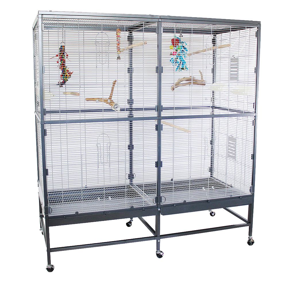 The Montana Paradiso 150 Indoor Aviary offers a spacious home for your birds, around 150cm wide and 130cm high. It meets all expert recommendations for a species-a...