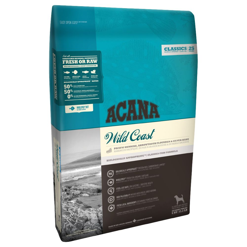 Acana Wild Coast Dry Dog Food - 17kg