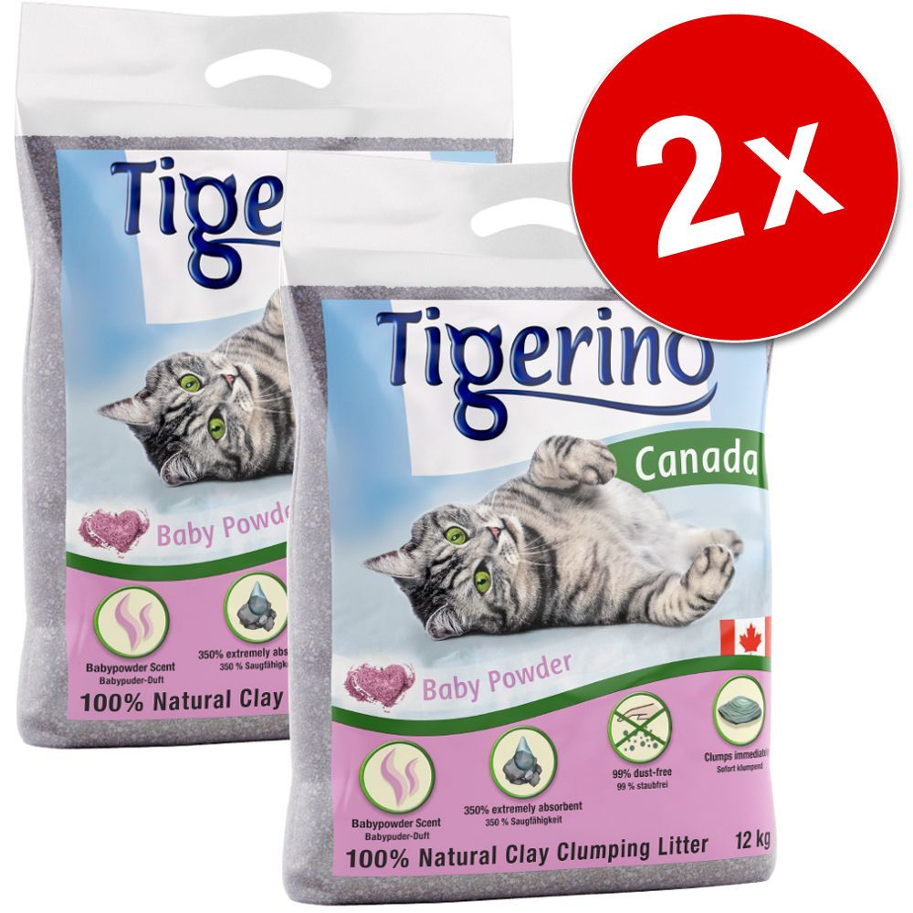 2x12kg litière Tigerino Special Care White Intense Blue Signal - pour chat
