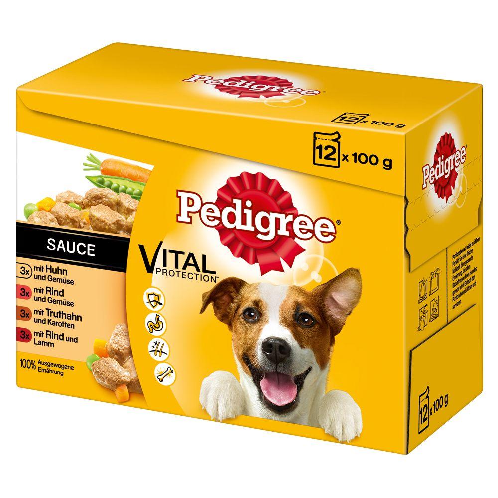 Pedigree Frischebeutel Multipack Nassfutter für Hunde - 96 x 100 g in Soße