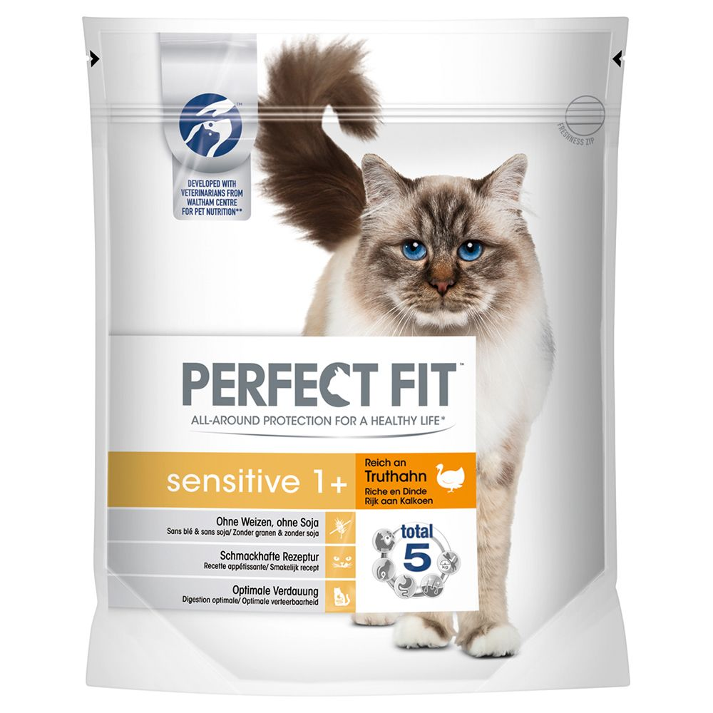 Perfect Fit Sensitive 1+ Rich in Turkey - Economy Pack: 3 x 1.4kg