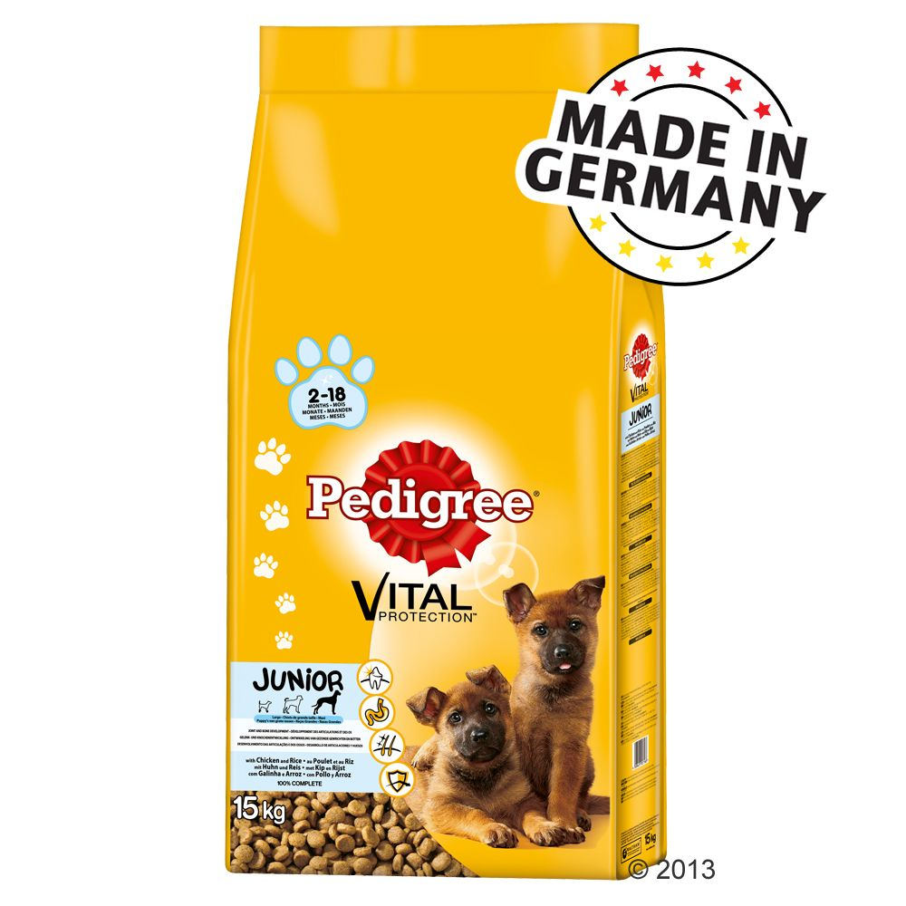 Foto Pedigree Junior Vital Protection Maxi Pollo & Riso - 14 + 1 kg gratis - OFFERTA! Pedigree Cuccioli