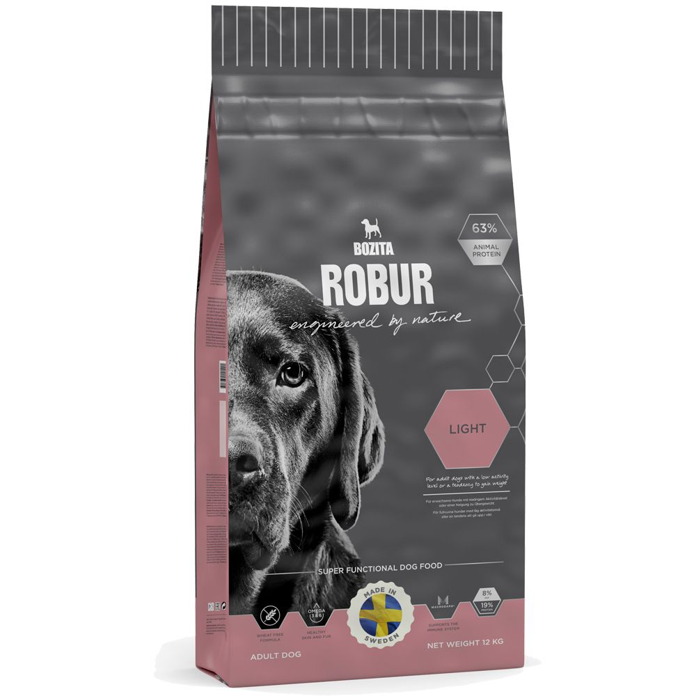 Bozita Robur Light offers premium nutrition and premium flavour! This complete balanced kibble helps to support your dog's natural bodily functions using the lates...