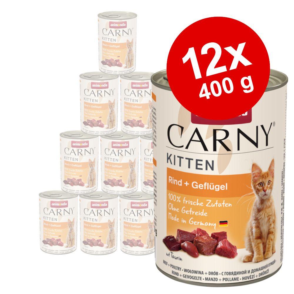 Animonda Carny Kitten 12 x 400 g - Nötkött & fjäderfä