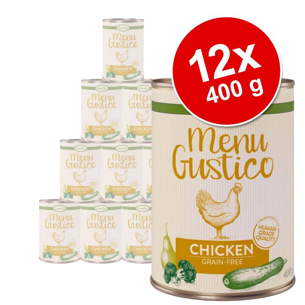 Ekonomipack: Lukullus Menu Gustico 12 x 400 g – Kyckling med broccoli zucchini & päron