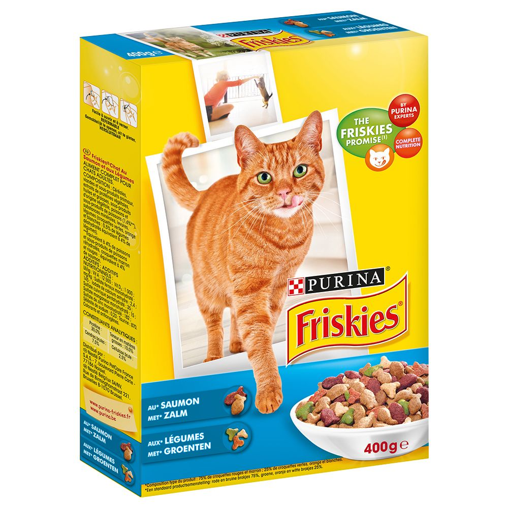 Friskies Salmon and Vegetables kattfoder - Ekonomipack: 4 x 1,5 kg