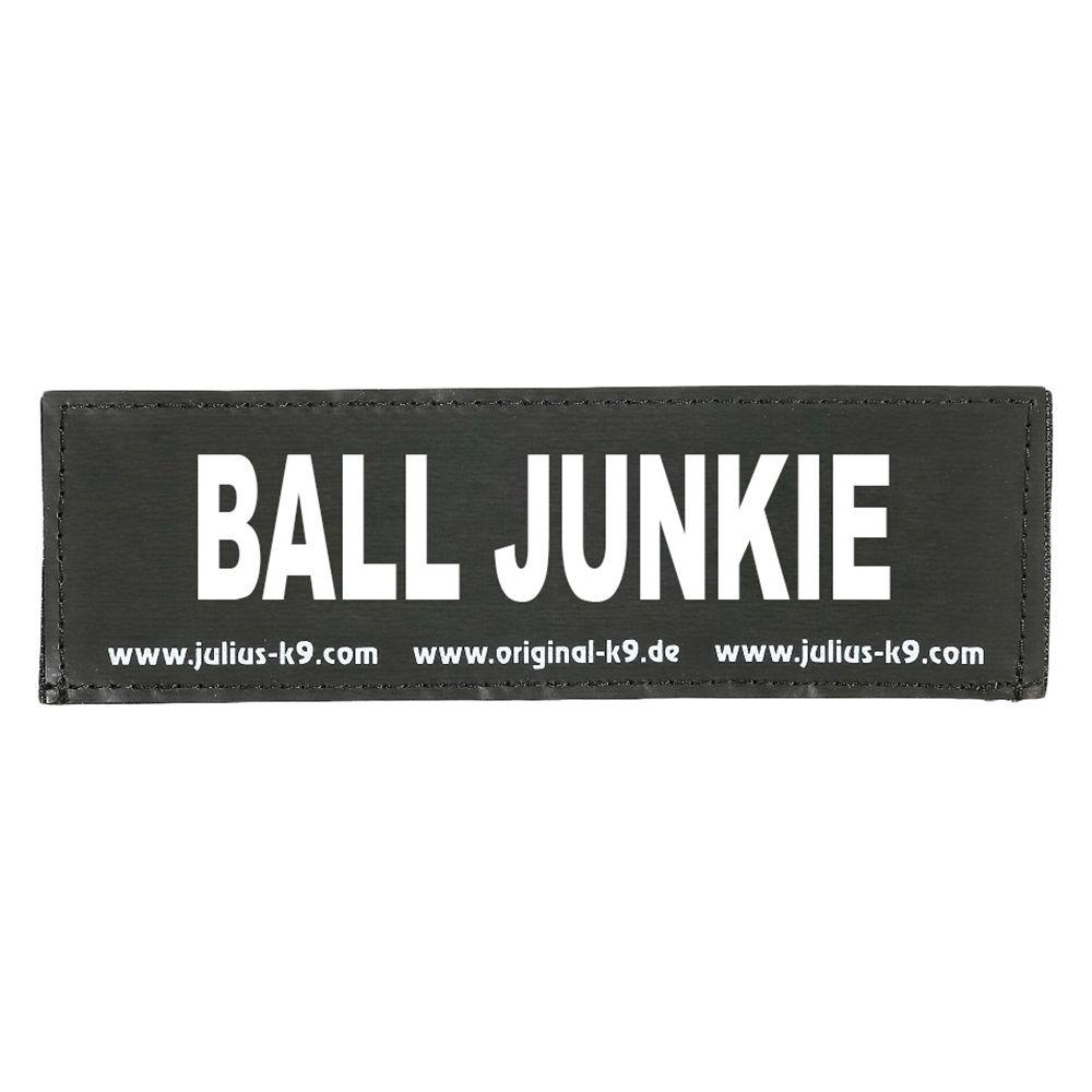 Image of Coppia di adesivi Julius-K9 - logo: BALL JUNKIE - Small L 11 x P 3 cm
